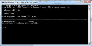 Windows Command prompt - password reset