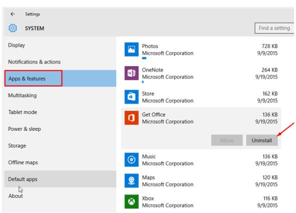 Turnoff- office notification- windows10