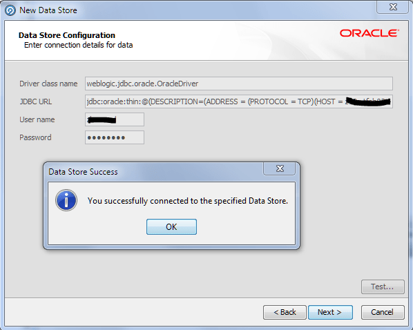 JDBC connection samples in Oracle Enterprise Data Quality (OEDQ) to