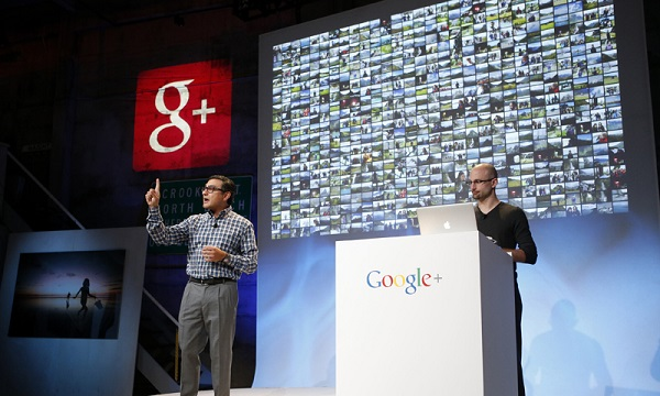 Senior Vice President of Engineering at Google Gundotra speaks about updates to Google Plus during a Google event in San Francisco