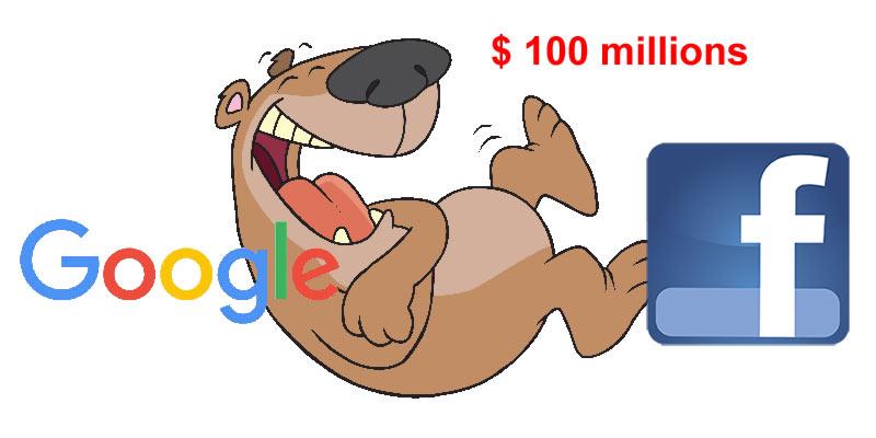 Plus c'est gros, plus ça passe : bravo Google et Facebook…