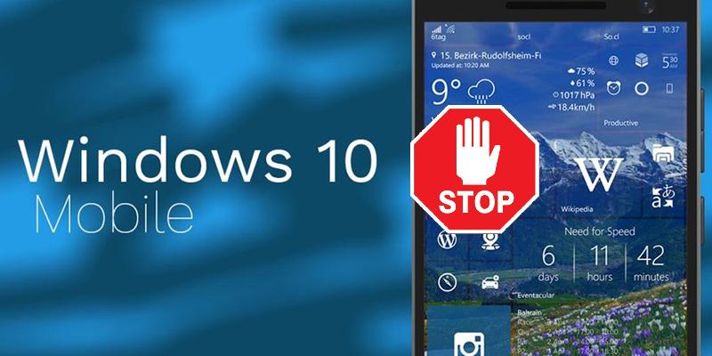 Le désastre de l'abandon Windows 10 Mobile
