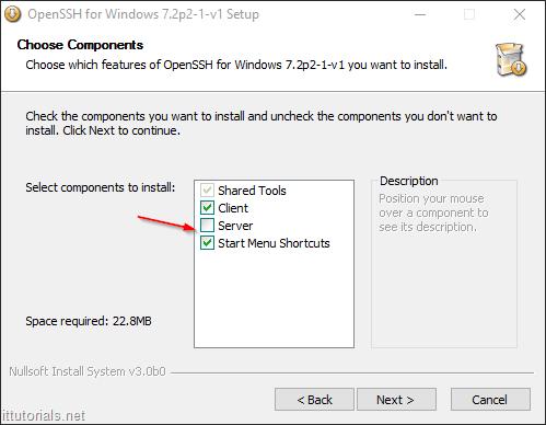 choose components ssh