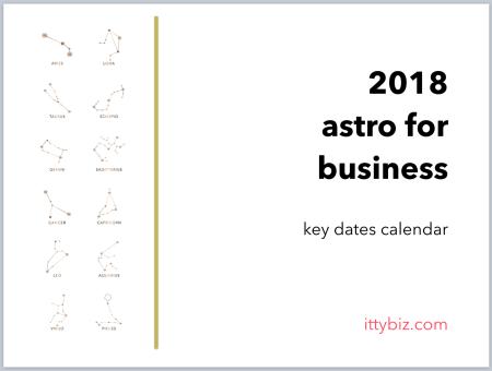 Your 2018 Key Dates Calendar