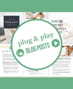Plug & Play Blog Posts