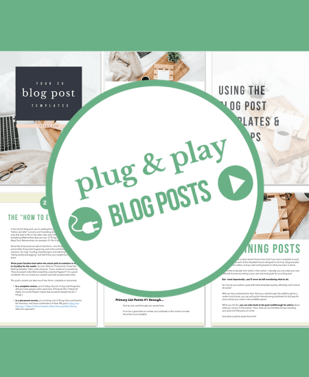Plug & Play Blog Posts