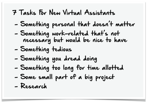 Virtual Assistant Task Example