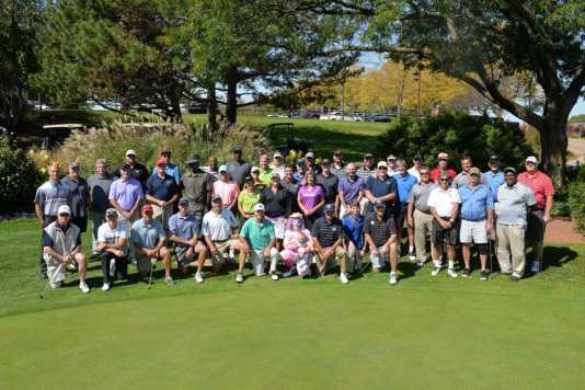 Celebrity team picture at Tee Up Fore the Cure 2017