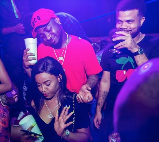 A Clear Picture Of Davido's New Girlfriend, Chioma As They Club Together