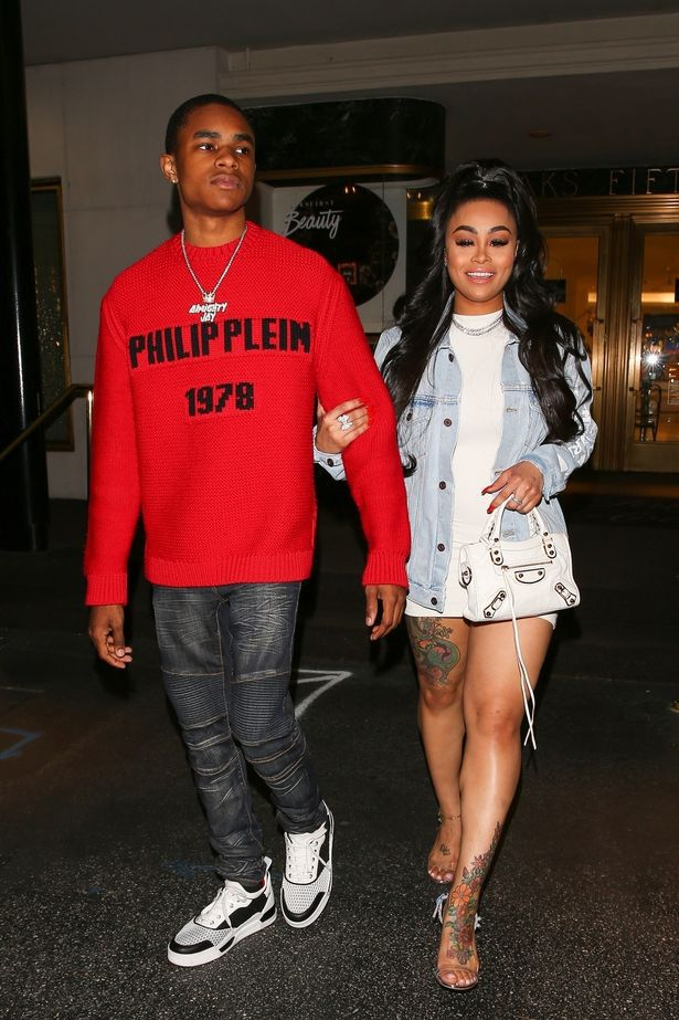 Blac Chyna's 18 year old boyfriend grabs her bum while they're shopping