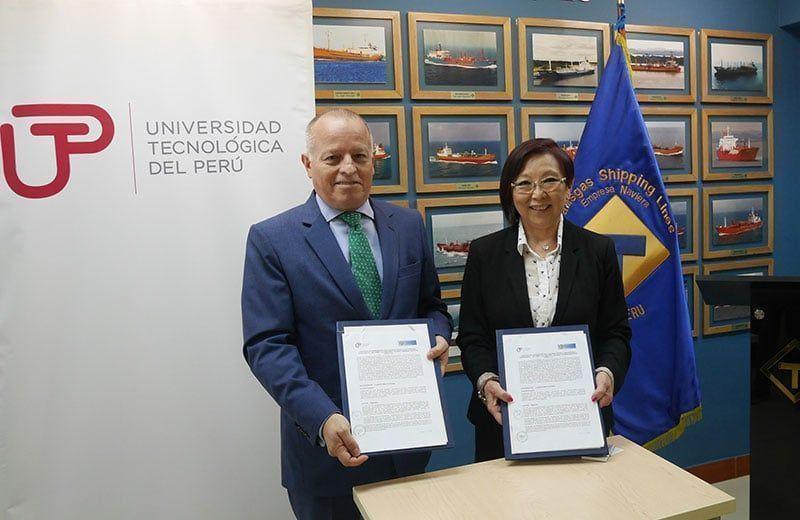 UTP firmó convenio con naviera Transgas Shipping Lines