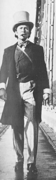 Peter Wyngarde as Isambard Kingdom Brunel in TWW's Engineer Extraordinary