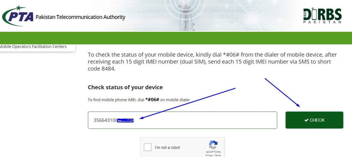 pta device imei check online