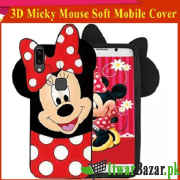 Huawei P20 Lite Y9 Y7 Prime Y5 Prime Mate 10 Lite Nova 3I Honor 7C Mobile Covers - 3D Cute Cartoon Lovely Micky Mouse Soft Mobile Cover For Girls - Red Color