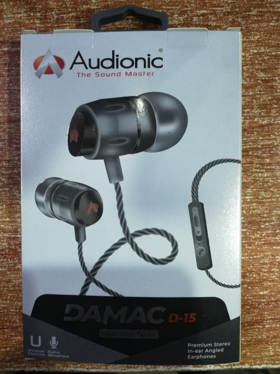 Audionic Black Universal Earphone With Extra Bass - D-15