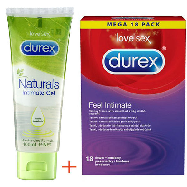 Original Durex Natural Intimate Gel + 18 Feel Intimate Condoms