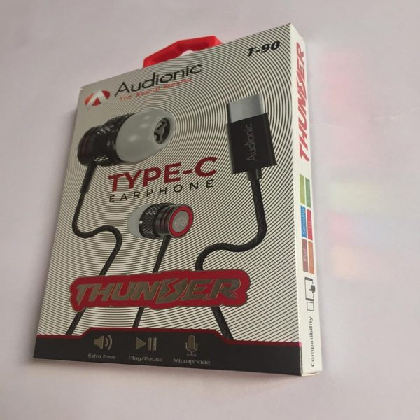 Audionic Black Type-C Earphone - T-90