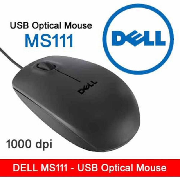 Dell USB Optical Wheel Mouse Computer MS111-1F10G