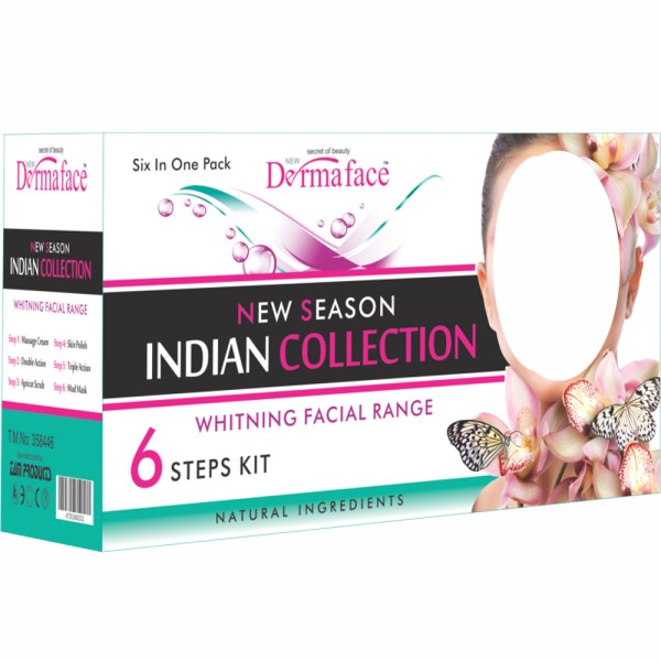 Original Dermaface Indian Collection Facial 6 Step Kit - 6VP60A