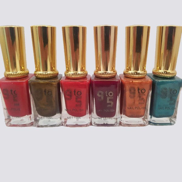 Pack Of 6 Unique Colors 9 To 5 Nail Polish - 3J6P0T