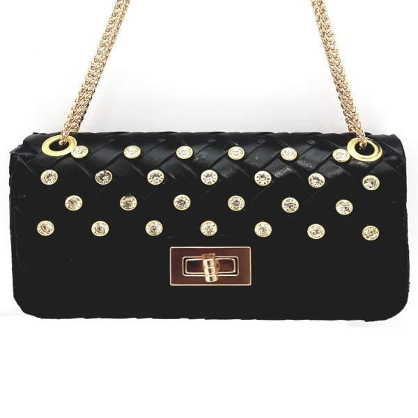 Best Selling Black Clutch Shoulder Bag With Chain BC64 - 5S0S0