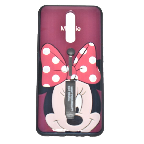 Samsung S8 Red Micky Mouse Mobile Cover Adjustable & Standable - A9N0