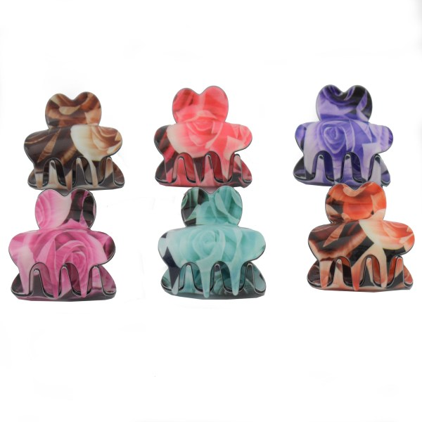 Pack Of 6 Beautiful Design Premium Strong Quality Stylish Hair Catcher JC137-3G9O0