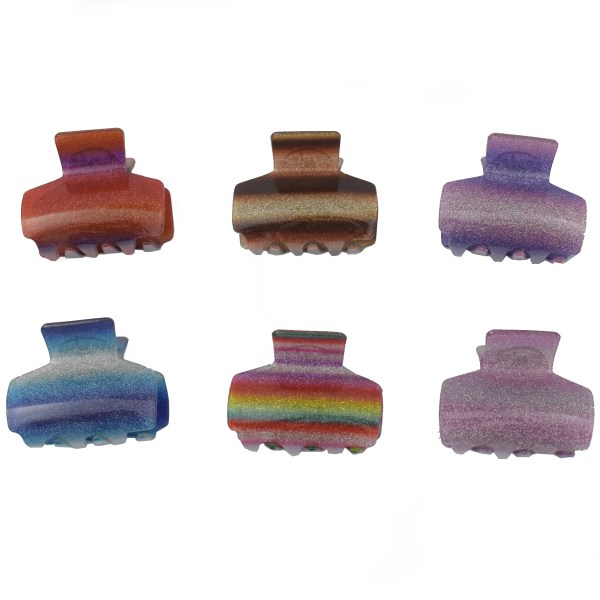 Pack Of 6 Stylish Design Premium Strong Quality Shining Hair Catcher JC139-E390O