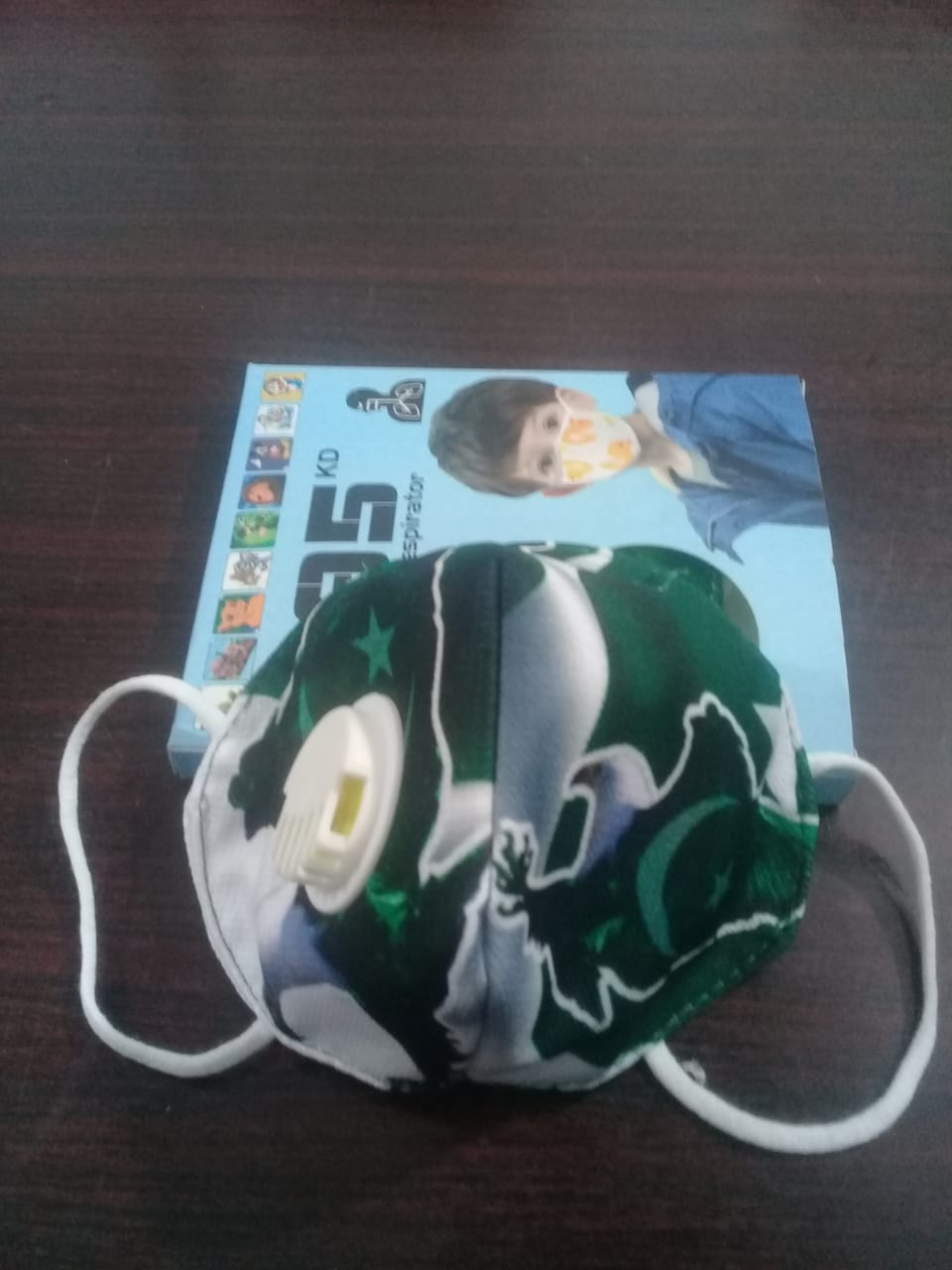 3 to 8 years Pakistani Flag N95 Mask for boys & Girls fm 14g