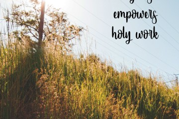 Holy rest empowers holy work