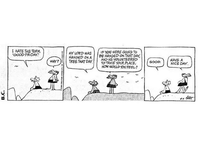 Good Friday comic strip BC