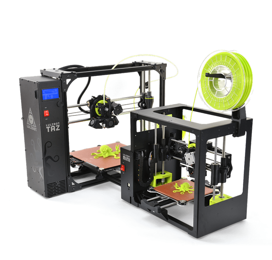 Sale on refurbished LulzBot TAZ 6 TAZ 5 and Mini 3D Printers