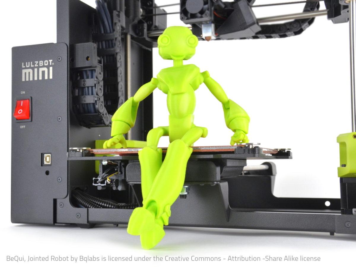 lulzbot mini 3d printer new it works 3d print