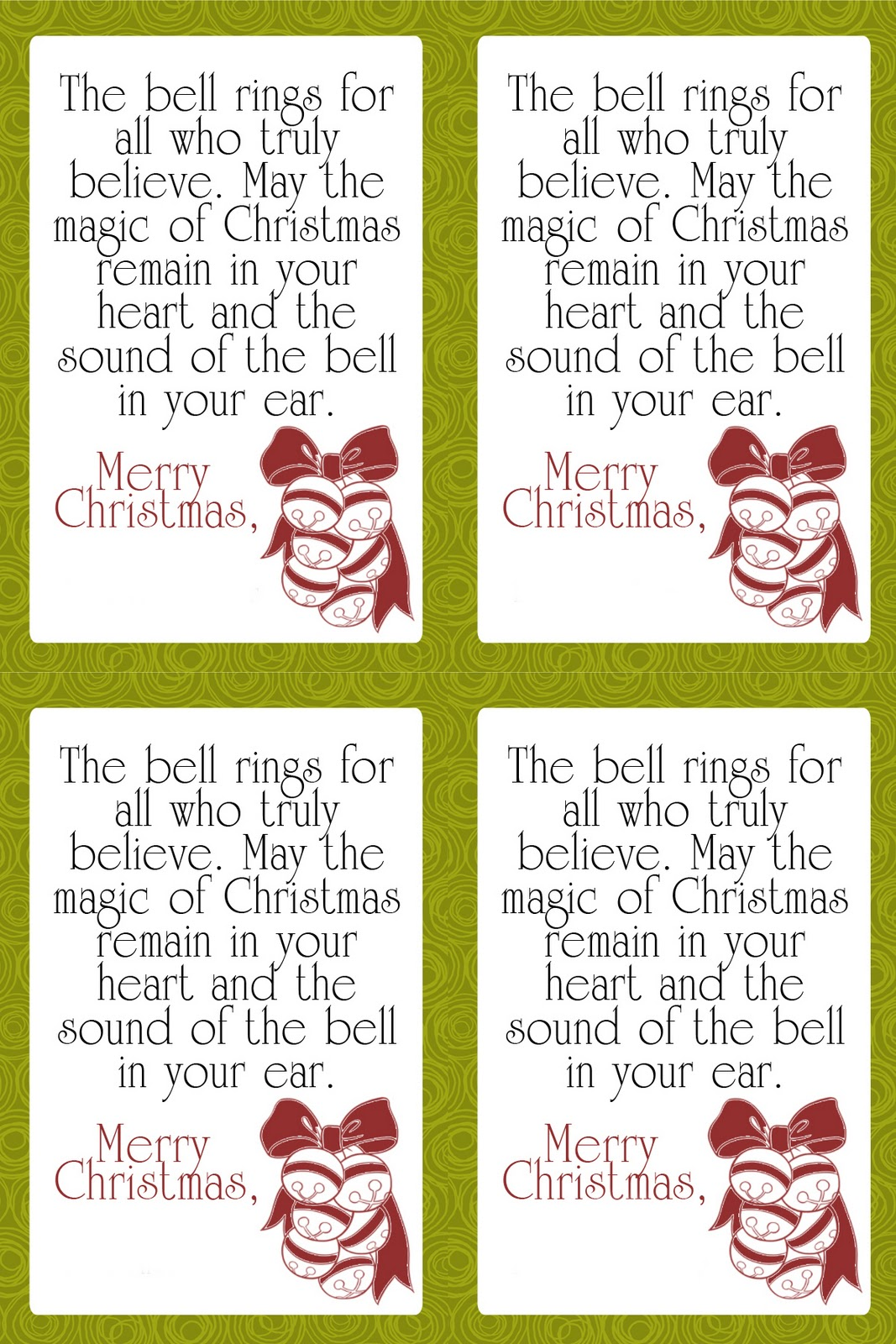 Free Friday Cute Sleigh Bell Neighbor T Tags It