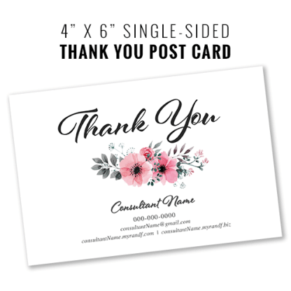 rodan and fields business thank you card