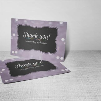 thank you card digital download or order prints , purple shine bokeh
