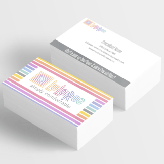 lularoe designed business cards for fashion consultants - lularoe approved colors in thin horizontal stripes