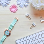 free digital download flatlay stock photo of desk for blogger or social media manager