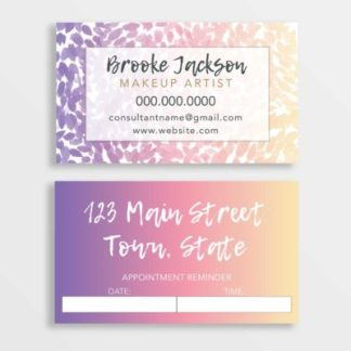 makeup artist appointment reminder cards
