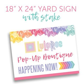 lularoe yard sign popup boutique
