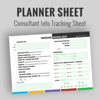 rodan and fields business consultant tracking sheet grow your business