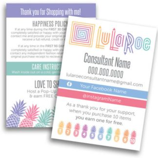 lularoe pineapples design happiness policy