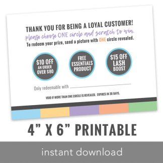 rodan and fields business, rodan and fields scratch card, instant download scratch card, scratch to win card, rf printables, lularoe printables