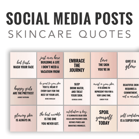 35 Social Media Quotes & Posts - Skincare Quotes - (skin-tone colors)