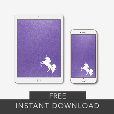 free wallpaper download for iPhone, iPad and MacBook purple glitter with unicorn