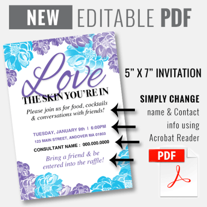 editable pdf invitation, rodan and fields invitation, rf business launch invitation ideas