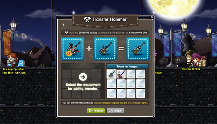 Maplestory Transfer Hammer