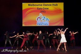 "during the Epic Crew ""Worlds COllide"" routine for the Sydney Latin Festival"