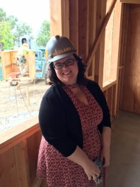 Pastor Sarah checks out the new office space