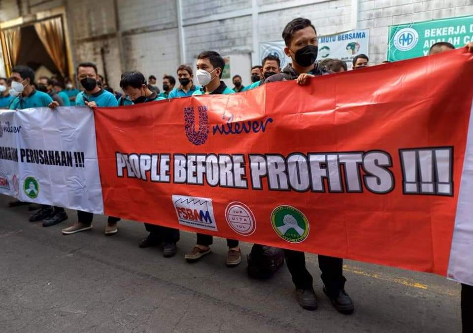 People before profits! Unilever joint venture workers in Indonesia demand a living wage